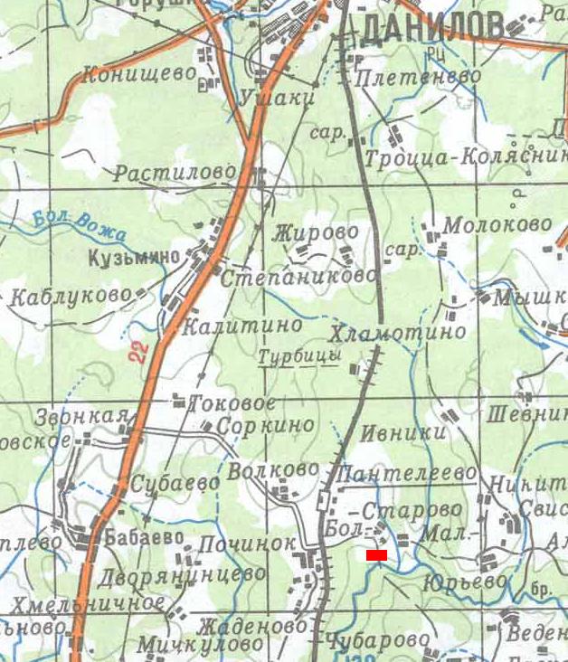место стартового лагеря)